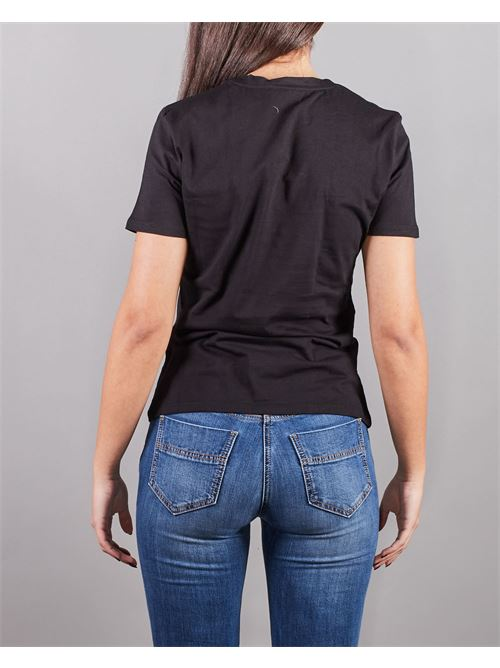 T-shirt con logo in strass ricamato Elisabetta Franchi ELISABETTA FRANCHI | T-shirt | MA25N11E2110