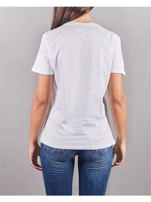 T-shirt con logo in strass ricamato Elisabetta Franchi ELISABETTA FRANCHI | T-shirt | MA25N11E2270
