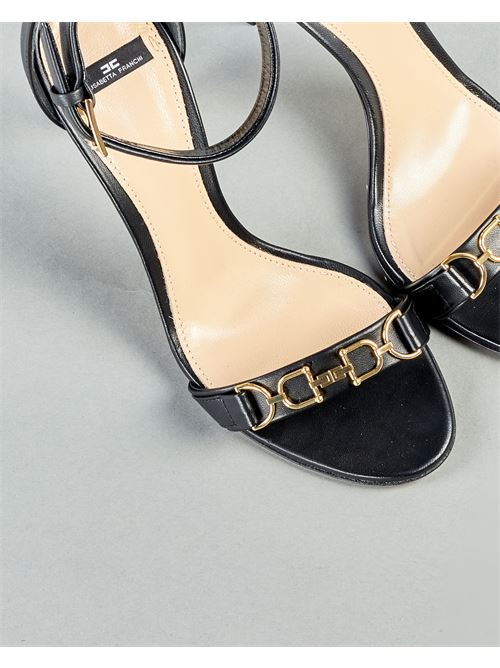 Sandalo con logo Elisabetta Franchi ELISABETTA FRANCHI | Sandali | SA97L11E2110