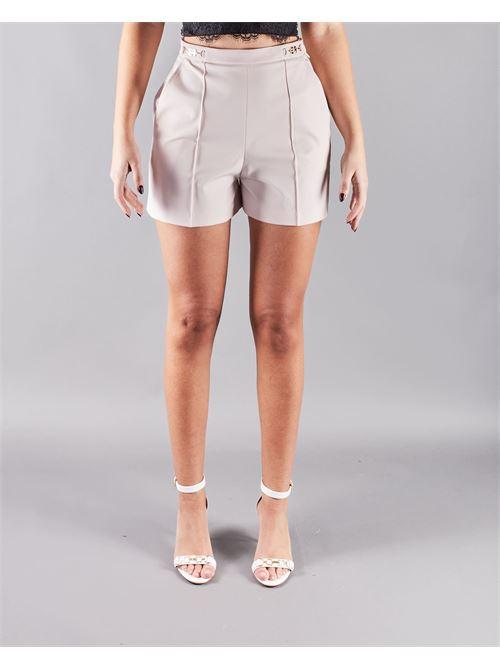 Shorts in ottoman con morsetto logato Elisabetta Franchi ELISABETTA FRANCHI | Shorts | SH00111E2686