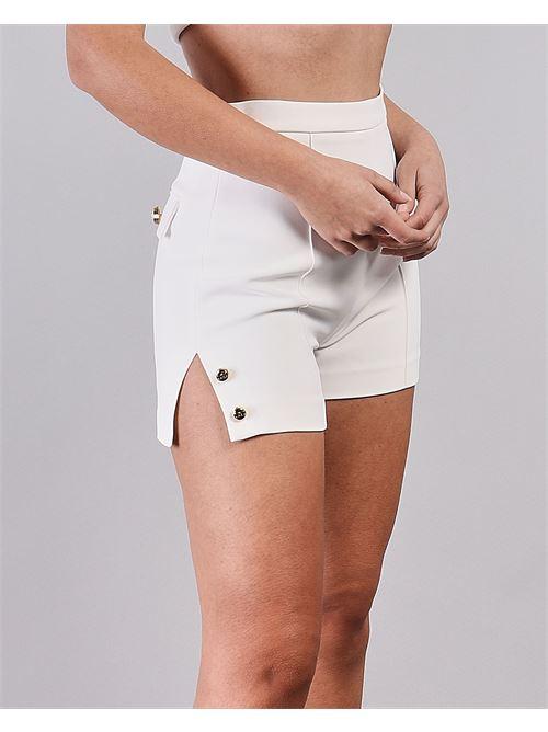 Shorts a vita alta con spacchi laterali Elisabetta Franchi ELISABETTA FRANCHI | Shorts | SH00211E2360