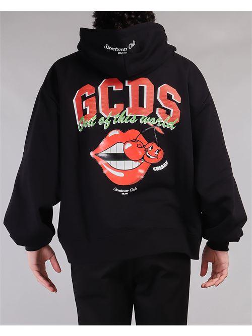 Felpa con stampa logo Cherry Club GCDS GCDS | Felpa | SS21M02006202