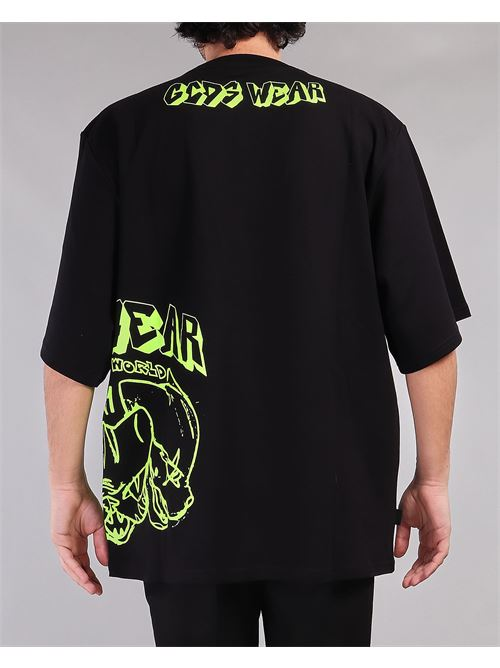T-shirt oversize con stampa Bad Cat GCDS GCDS | T-shirt | SS21M02007702