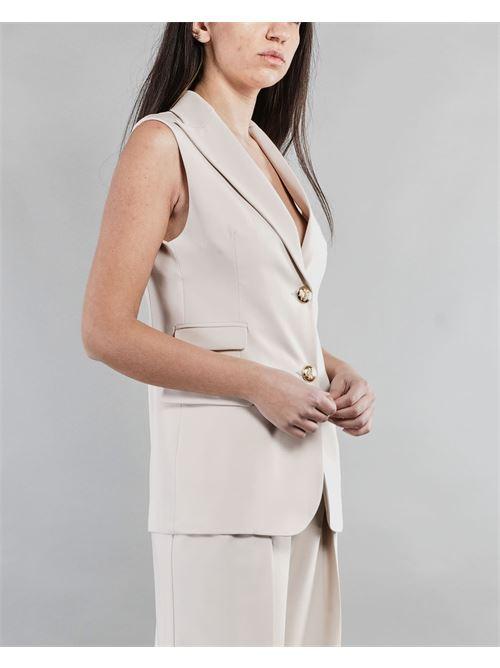 Gilet con bottone gioiello Imperial IMPERIAL | Giacca | L9990002LSABBIA