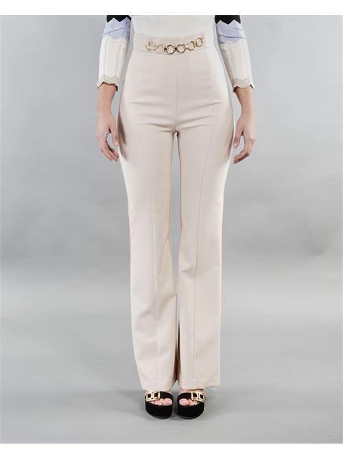 Pantalone palazzo con catena in vita Imperial IMPERIAL | Pantalone | P2B1BEXCREMA