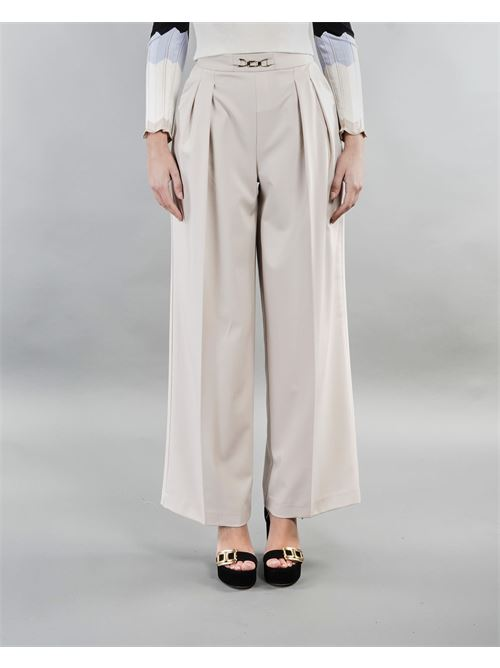 Pantalone cropped con pences Imperial IMPERIAL | Pantalone | P9990016LSABBIA