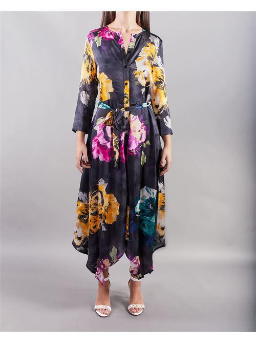 Abito asimmetrico con stampa a macro fiore Manila Grace MANILA GRACE | Abito | A518VSMA001