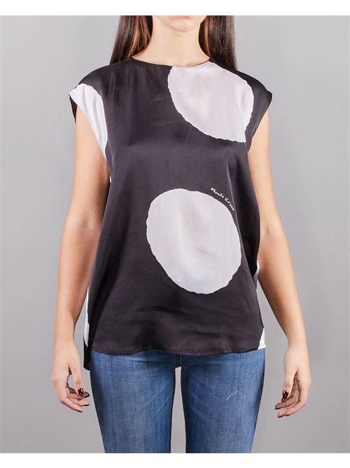 Camicia girocollo con stampa a macro pois Manila Grace MANILA GRACE | Camicia | C053VPMA001