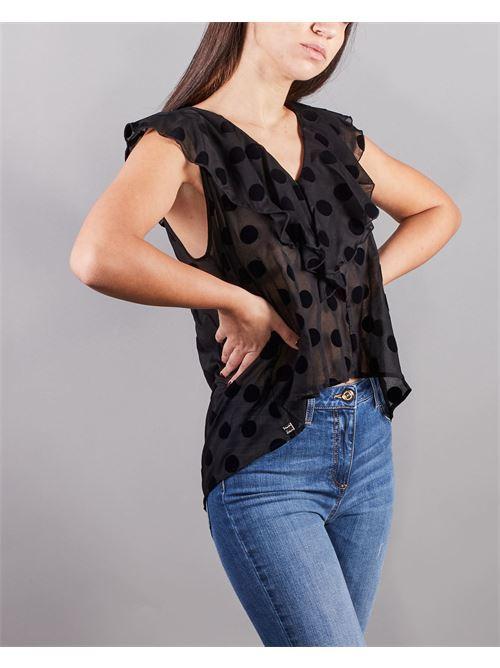 Blusa senza maniche con balze Manila Grace MANILA GRACE | Camicia | C088CPMA001