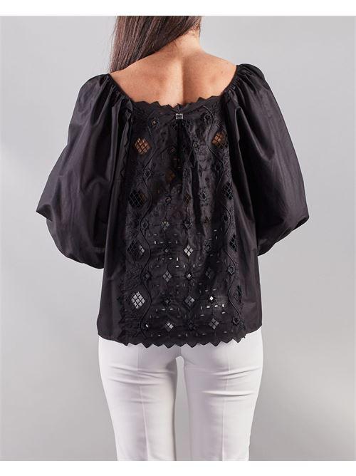 Camicia in cotone con ricamo frontale Manila Grace MANILA GRACE | Camicia | C155CUMA001