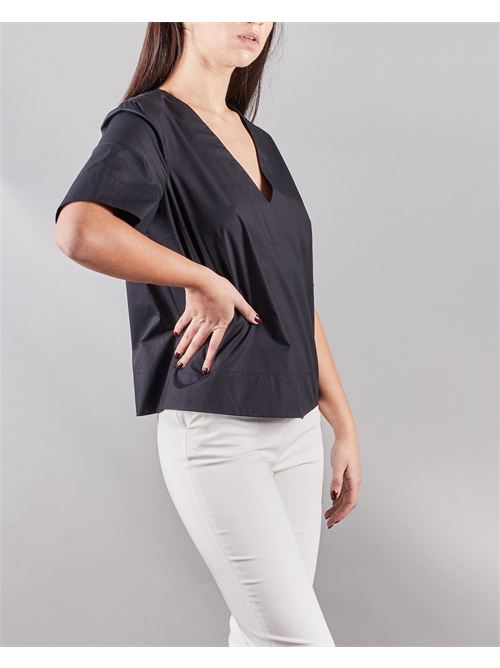 Camicia blusa scatoletta scollo a V Manila Grace MANILA GRACE | Camicia | C166CUMA001