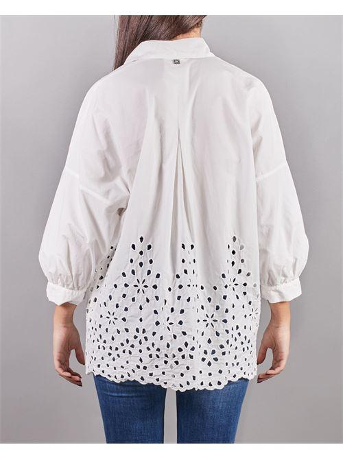 Camicia ricamata manica a 3/4 Manila Grace MANILA GRACE | Camicia | C262CUMA043