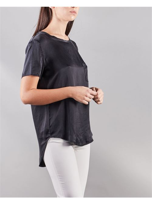 Blusa a maniche corte con taschino Manila Grace MANILA GRACE | Camicia | C335SUMA001