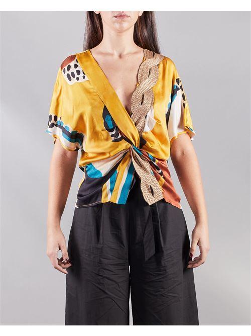 Blusa con chiusura incrocio Manila Grace MANILA GRACE | Camicia | C395VSMA046