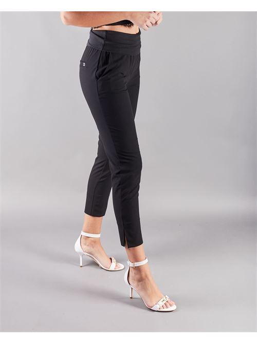 Pantalone con baschina e spacchetti Manila Grace MANILA GRACE | Pantalone | P077PUMA001