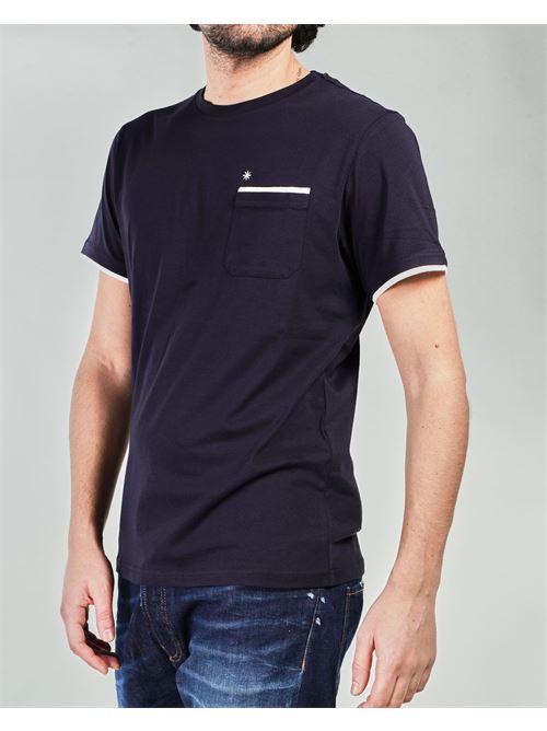T-shirt con profili a contrasto Manuel Ritz MANUEL RITZ | T-shirt | 3032M55121329389