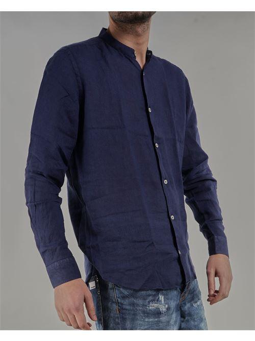 Camicia in lino con collo coreano Mastricamiciai MASTRICAMICIAI | Camicia | FS049MC30913