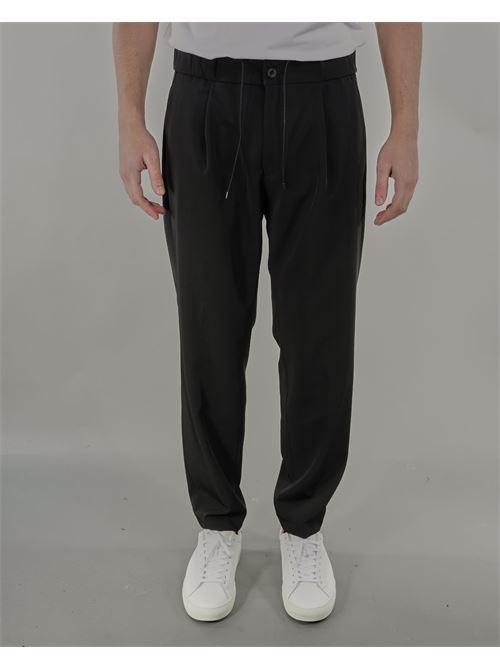 Pantalone con elastico in vita e coulisse Michael Coal MICHAEL COAL | Pantalone | LEN35200S21NERO