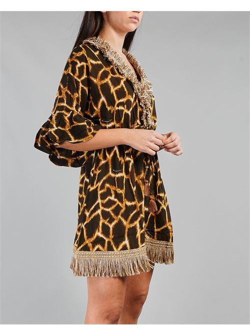 Kaftano animalier con frange Miss Bikini MISS BIKINI | Kaftano | V1003DRAMA