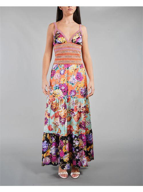 Abito multicolor lungo con balze e passamaneria Miss Bikini MISS BIKINI | Abito | V1026DFIOR