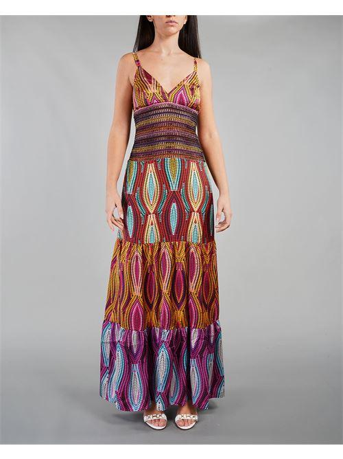 Abito multicolor lungo con balze e passamaneria Miss Bikini MISS BIKINI | Abito | V1027DKENY