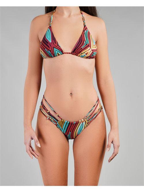 Costume triangolo a fantasia con accessori metallici Miss Bikini MISS BIKINI | Costume | V1048TKERO