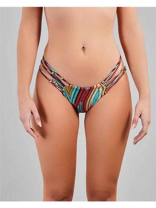 Costume slip a fantasia con accessori metallici Miss Bikini MISS BIKINI | Costume | V1052BKERO