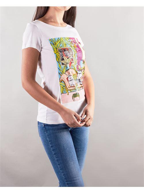 T-shirt con stampa e strass Nenette NENETTE | T-shirt | DAIKO1