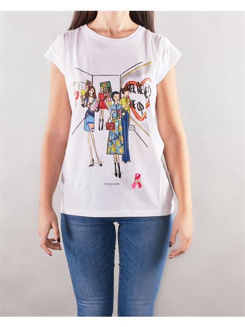 T-shirt con stampa Nenette NENETTE | T-shirt | DEK1