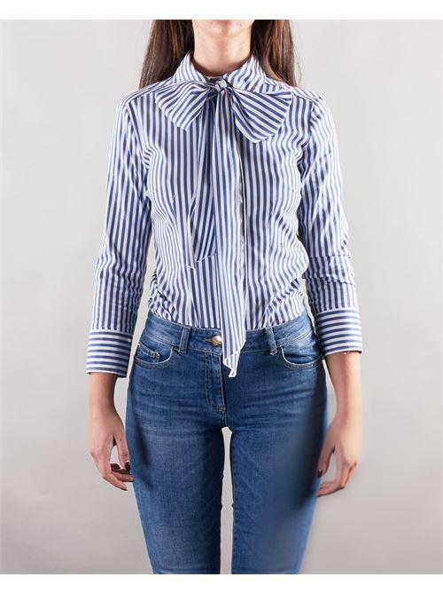 Camicia a righe con fiocco al collo Nenette NENETTE | Camicia | FAY403