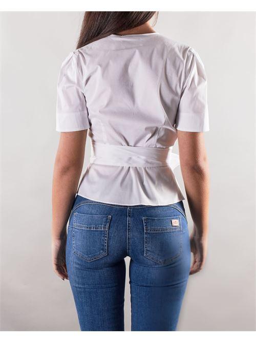 Camicia con chiusura a portafoglio e fiocco in vita Nenette NENETTE | Camicia | FLORA1