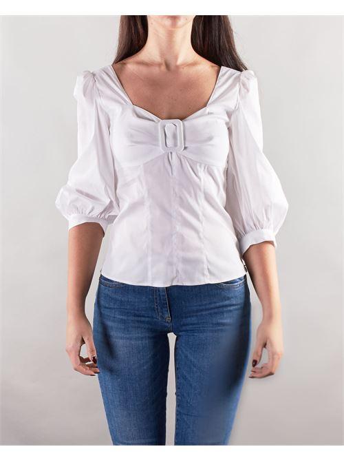 Camicia con maniche a sbuffo Nenette NENETTE | Camicia | FOGLIA1