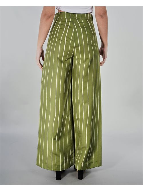 Pantalone palazzo a righe Never Be The Same NEVER BE THE SAME | Pantalone | 21005VERDE