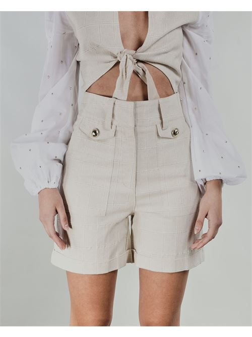 Shorts vita alta Never Be The Same NEVER BE THE SAME | Shorts | 21038BEIGE