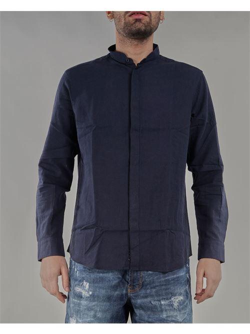 Camicia in lino con collo coreano Paolo Pecora PAOLO PECORA | Camicia | G081T3516685
