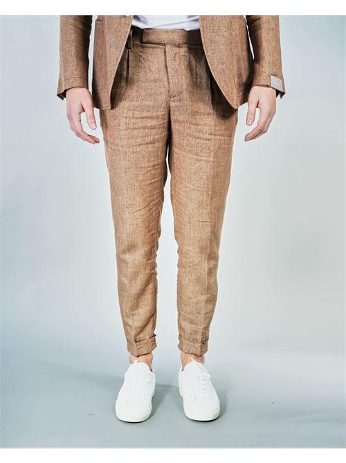 Pantalone di lino Paoloni PAOLONI | Pantalone | 3012P11721103326