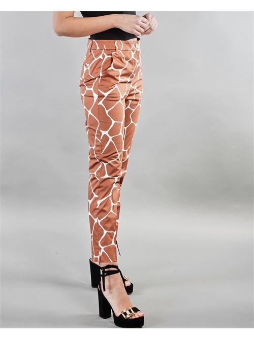 Pantalone slim in raso di cotone Penny Black PENNY BLACK | Pantalone | BENGASI9