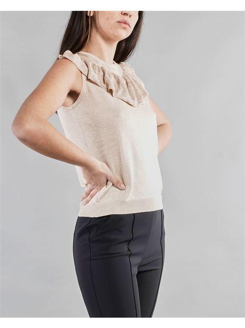 Top in maglia lamè con rouches Penny Black PENNY BLACK | Maglia | SERENO1