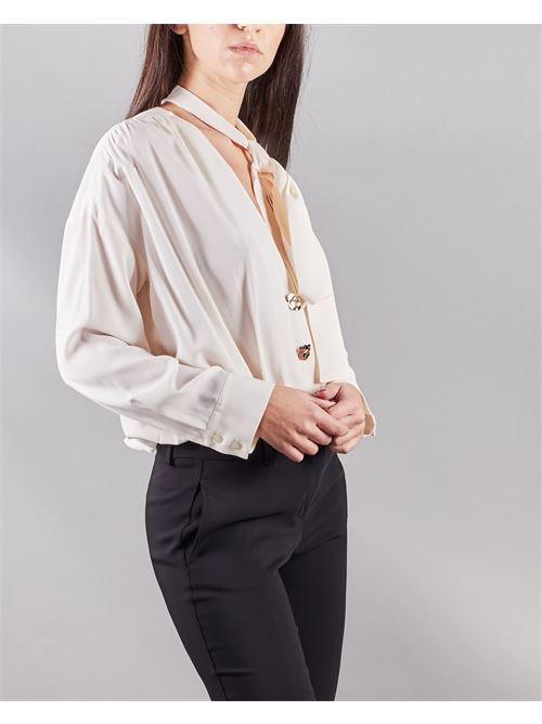Camicia a body con fiocco al collo Simona Corsellini SIMONA CORSELLINI | Body | BD00501TACE0002359