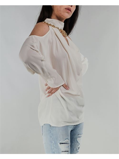 Blusa con accessorio Simona Corsellini SIMONA CORSELLINI | Blusa | BL00101TCDC0007359