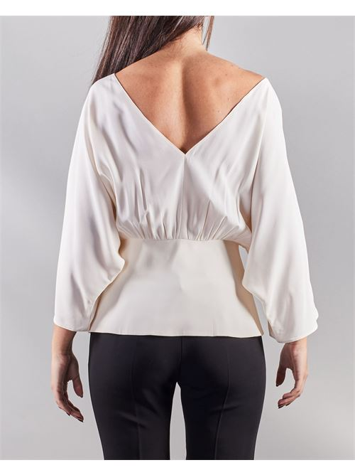 Blusa con accessorio Simona Corsellini SIMONA CORSELLINI | Blusa | BL00601TACE0002359