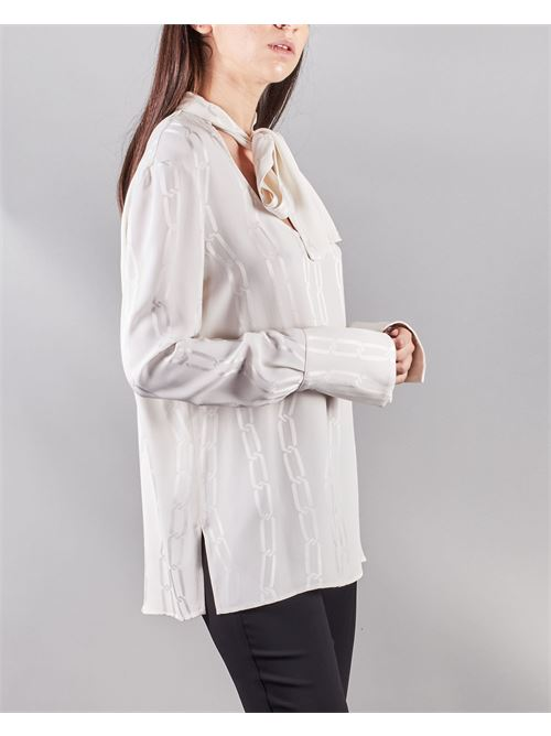Camicia stampata con fiocco al collo Simona Corsellini SIMONA CORSELLINI | Camicia | CA01102TJAQ0020359