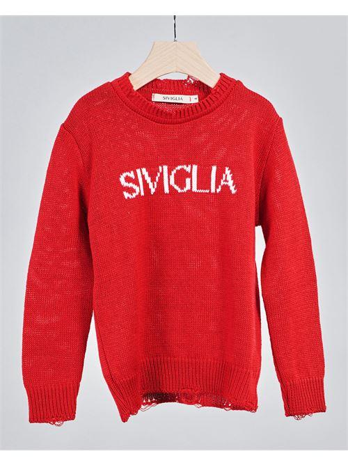 Maglia con logo Siviglia SIVIGLIA | Maglia | SW3199ROSSO
