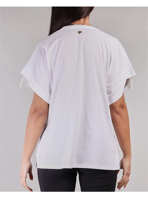 T-shirt con dettaglio pizzo sulle maniche Twinset TWIN SET | Blusa | TT22201