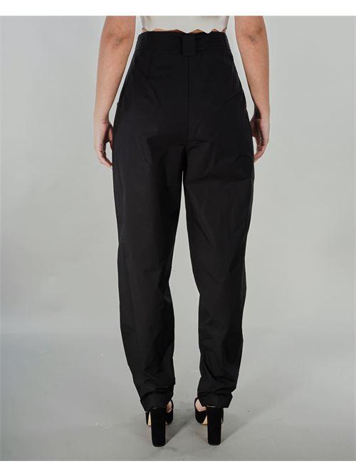 Pantalone in popeline con ricamo Twinset TWIN SET | Pantalone | TT24736