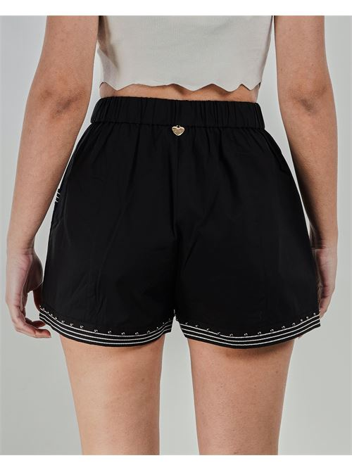Shorts in popeline con borchie Twinset TWIN SET | Shorts | TT24846
