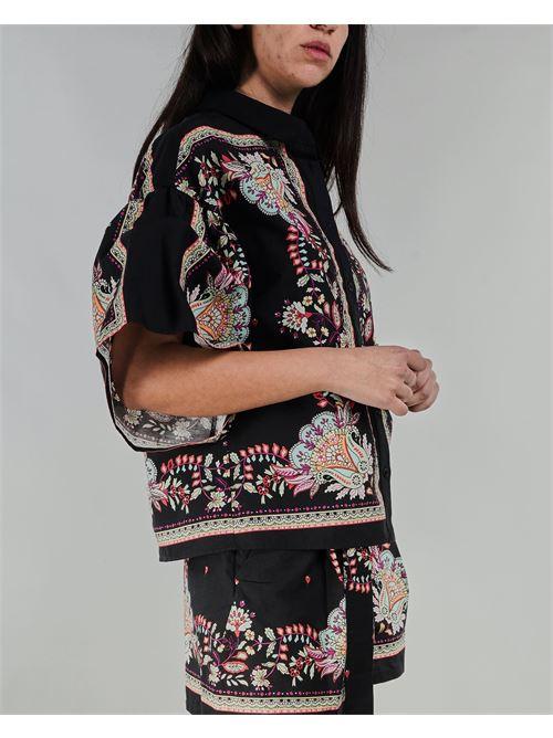 Camicia in popeline con stampa foulard Twinset TWIN SET | Camicia | TT25736086