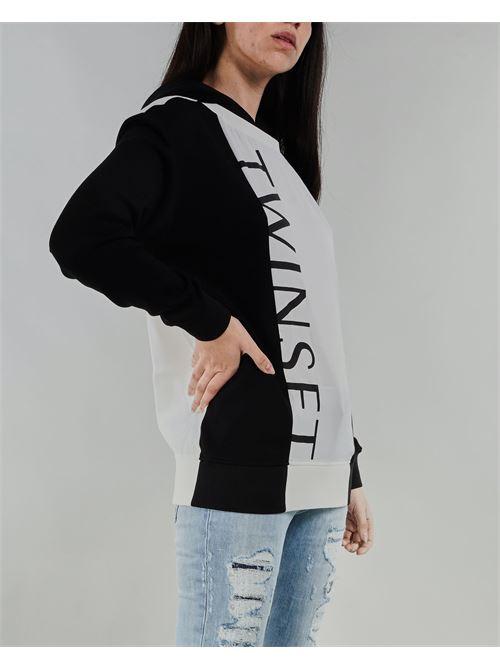 Felpa bicolor con logo Twinset TWIN SET | Felpa | TT2T221295