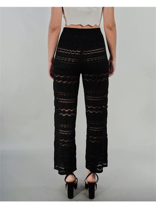 Pantaloni cropped con trasparenze Twinset TWIN SET | Pantalone | TT30226
