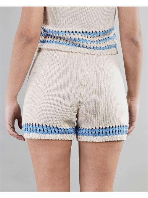 Short bicolor Vicolo VICOLO | Shorts | 5028HBEIGE-AZZURRO